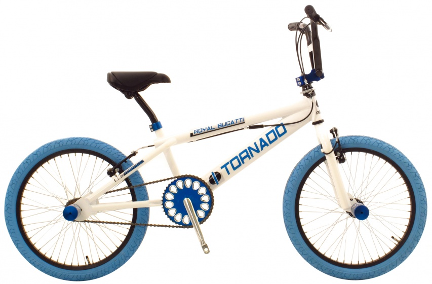 Bike Fun Tornado 20 Inch 55 cm Unisex V Brake Wit/Blauw