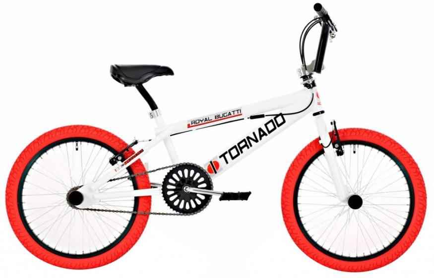 Bike Fun Tornado 20 Inch 55 cm Unisex V Brake Wit/Rood