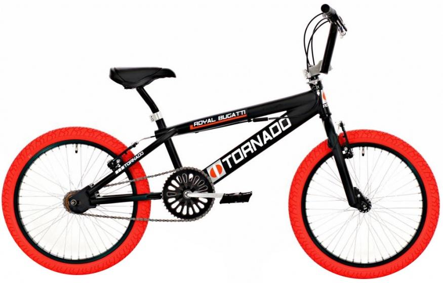 Bike Fun Tornado 20 Inch 55 cm Junior V Brake Zwart/Rood