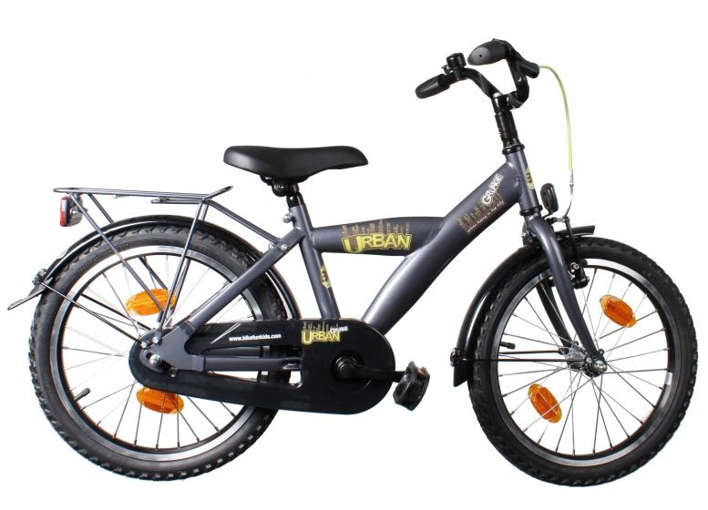 Bike Fun Urban Grunge 18 Inch 29 cm Jongens Terugtraprem Titanium