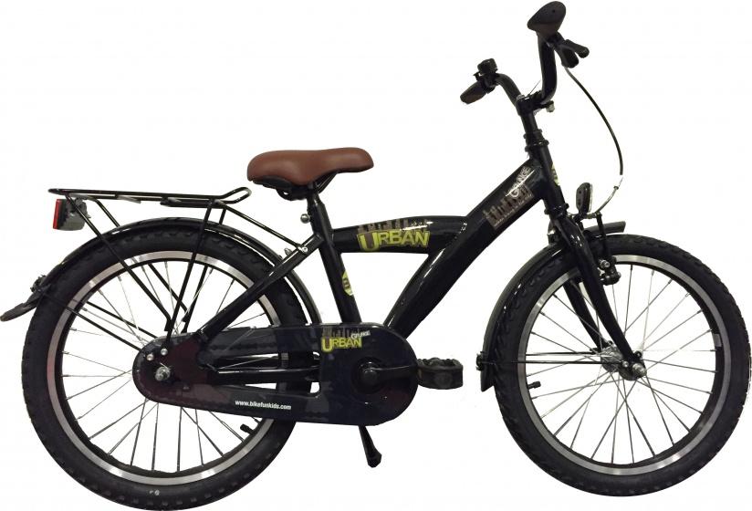 Bike Fun Urban Grunge 18 Inch 29 cm Jongens Terugtraprem Zwart