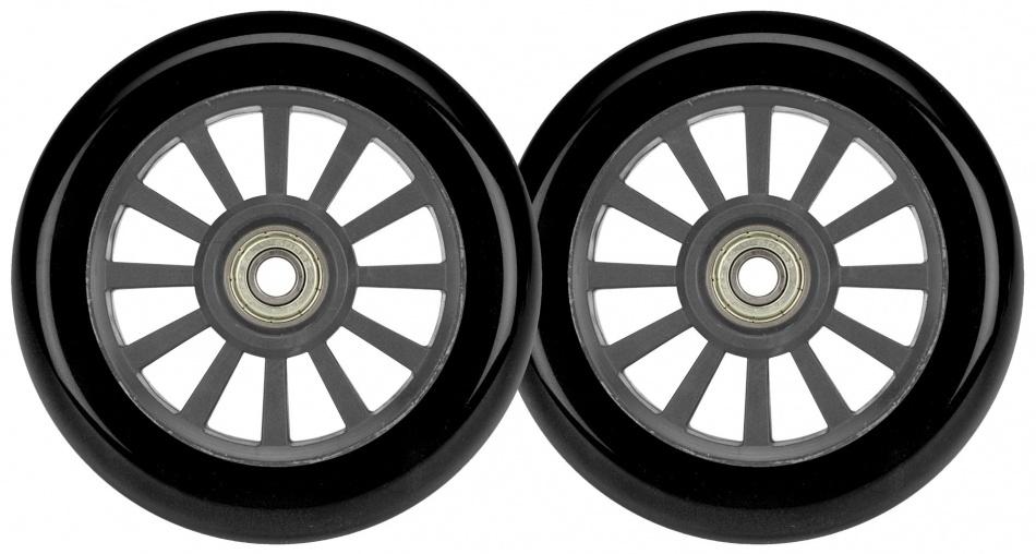 Afbeelding van Black Dragon wielen voor stuntscooter 2 stuks zwart/grijs 100 mm