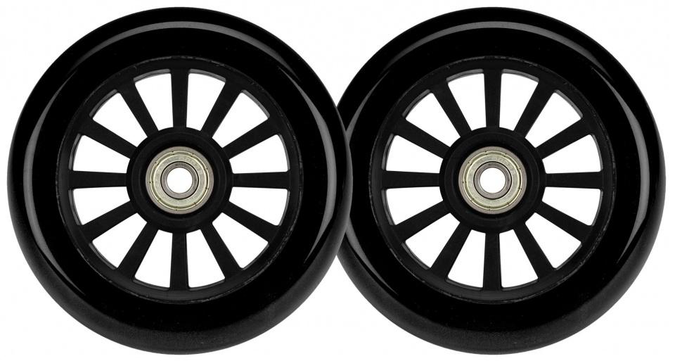 Afbeelding van Black Dragon wielen voor stuntscooter 2 stuks zwart 100 mm