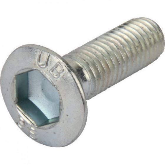 BLS inbusbout bolkop verzinkt M6 x 25 mm staal zilver 25 stuks
