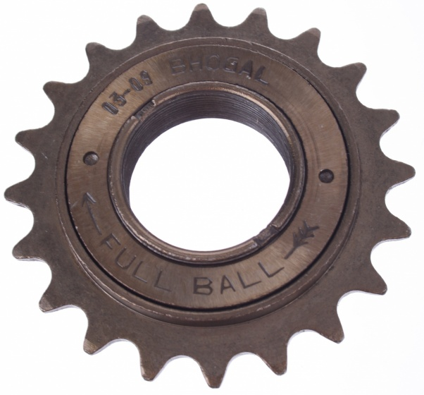 Boghal freewheel Full Ball 21T 1/2 x 1/8 inch enkel brons