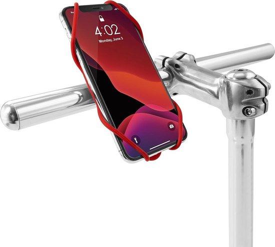Bone Sport telefoonhouder Tie 3 fiets 22 45 mm siliconen rood