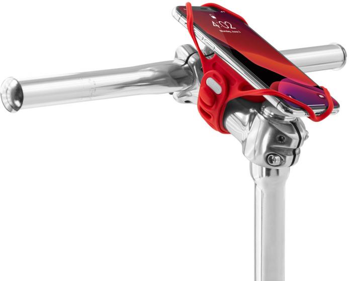 Bone Sport telefoonhouder Tie Pro 4 22 45 mm siliconen rood