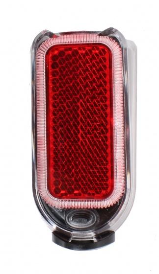 Cycle Tech achterlicht spatbord 4 lumen batterij led zwart