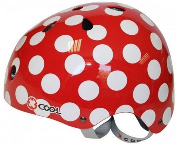 Cycle Tech fietshelm Polka rood maat 48/54 cm
