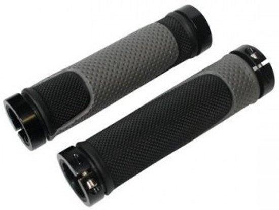 Cycle Tech handvatten 13 cm zwart/grijs per paar