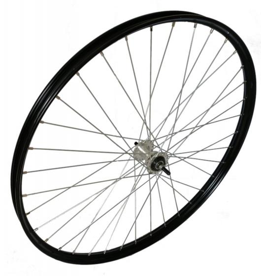 Cycle Tech voorwiel 28 x 1 1/2 inch met rollerbrakenaaf aluminium zwart