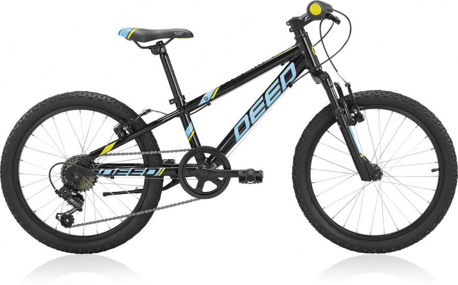 Deed Rookie 206 20 Inch 24 cm Jongens 6V V Brake Zwart/Lichtblauw