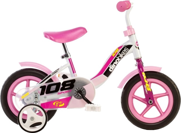 Dino 108L Girl 10 Inch 17 cm Meisjes Doortrapper Wit