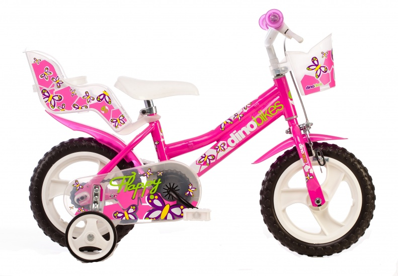 Dino 126RL 02 12 Inch 21 cm Meisjes Knijprem Roze