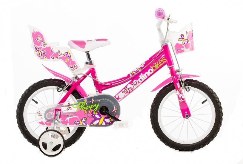 Dino 166R 02 16 Inch 27 cm Meisjes Knijprem Roze