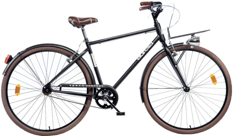 Dino Aurelia 28 Inch 50 cm Heren V Brakes Zwart/Bruin