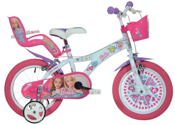 Dino Barbie 14 Inch 24 cm Meisjes Knijprem Roze/Wit