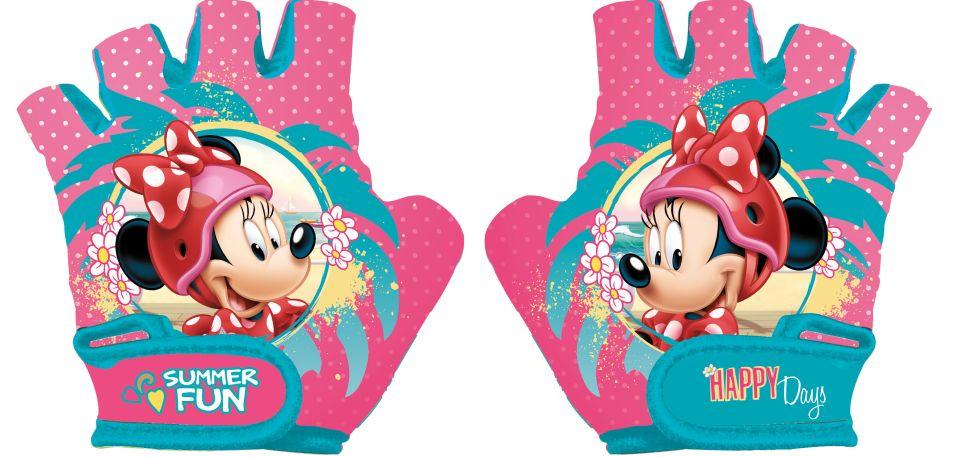 Disney fietshandschoenen Minnie Mouse meisjes roze/blauw maat S