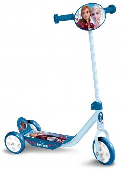Disney Frozen 3 wiel kinderstep Meisjes Voetrem Blauw/Lichtblauw