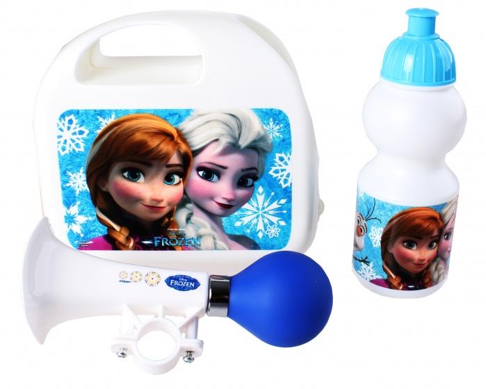 Disney kinderfietsset Combo Frozen meisjes wit 3 delig