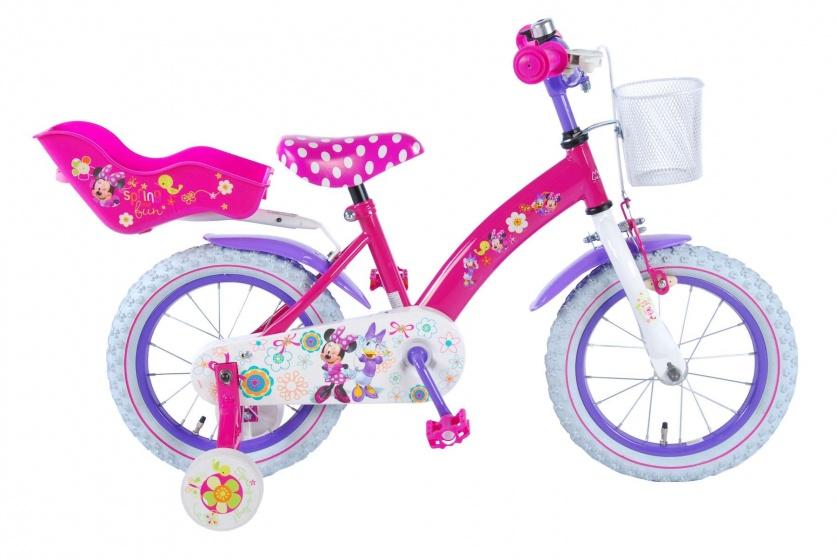 Volare Disney Minnie Bow-Tique meisjesfiets 14 inch roze-paars