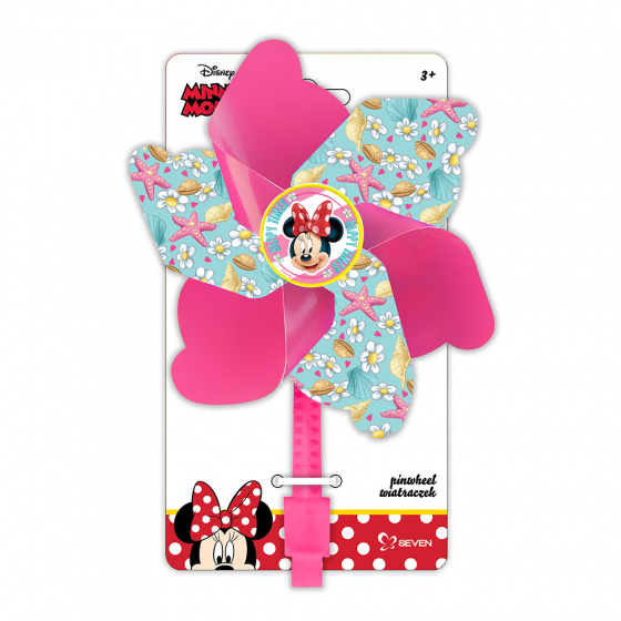 Disney windmolentje Minnie Mouse 17 cm roze