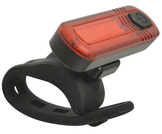 Dresco achterlicht COB led USB oplaadbaar zwart/rood 3 delig