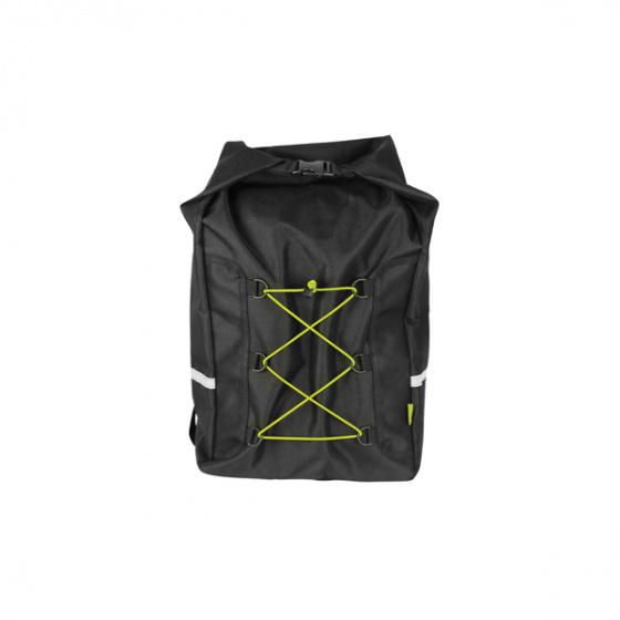 Dresco rugzak Messenger reflectie 18 liter nylon zwart