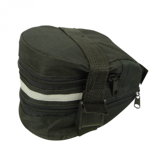 Dresco zadeltas 1,5 liter polyester zwart