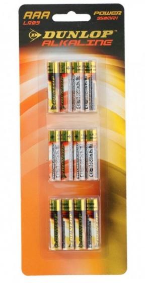 Dunlop batterijen LR03 AAA alkaline 12 stuks