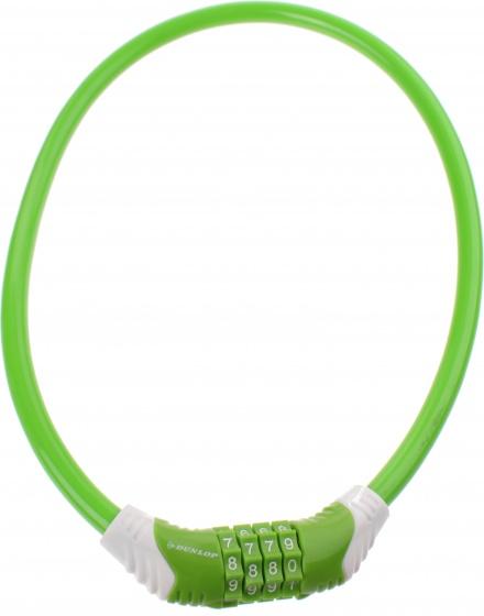 Dunlop kabelslot 650 x 10 mm cijfercombinatie groen