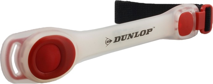 Dunlop veiligheidsarmband led verstelbaar wit