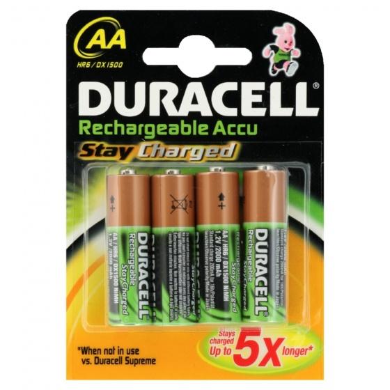 Duracell batterijen AA oplaadbaar 1.2V bruin/groen 4 stuks