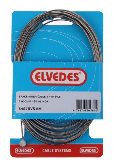 Elvedes binnenremkabel achter tonnippel 3500 mm zilver