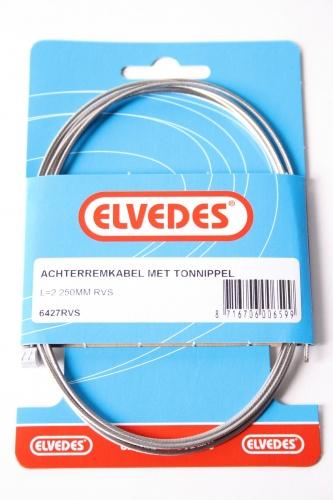 Elvedes Achterremkabel Met Tonnippel L=2250mm RVS 6427