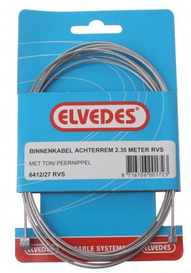 Elvedes Binnenremkabel achter 6412/27 ton/peernippel 2350 mm