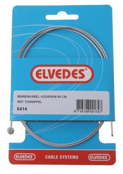 Elvedes Binnenremkabel voor 6414 tonnippel 900 mm zilver