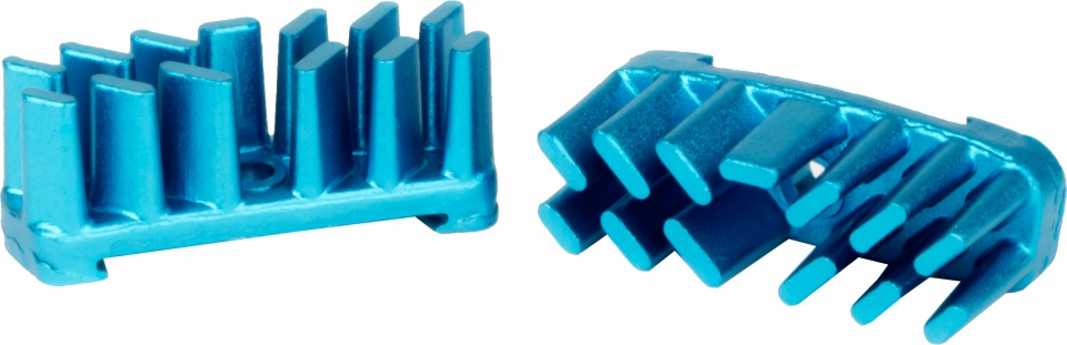 Elvedes koelvinnen Aerostream aluminium blauw 2 stuks