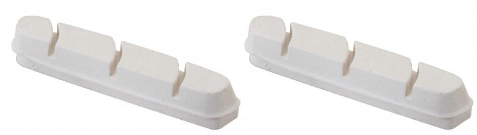 Elvedes remblokrubbers V brake 55 x 12 mm wit 2 stuks