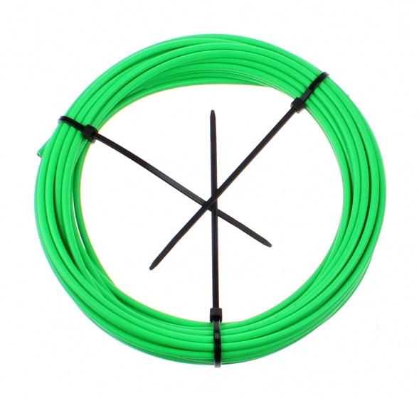 Elvedes schakelbuitenkabel 10 m x 4,2 mm neon groen
