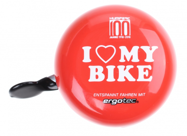 Ergotec fietsbel Ding Dong staal 80 mm rood/chroom