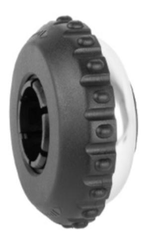 Ergotec fietsbel roterend 35 mm aluminium zwart/zilver