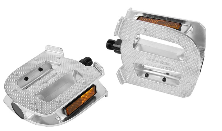Ergotec pedalen EP Cargo 9/16 staal 10,5 x 10 cm zilver