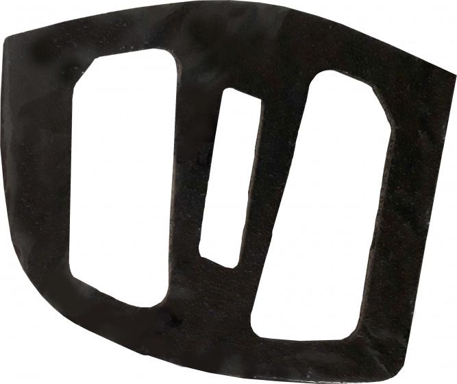 Ergotec stickers schuurpapier voor pedalen EP 2 4 stuks zwart