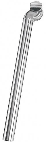 Ergotec zadelpen vast 320 x 27,2 mm aluminium zilver