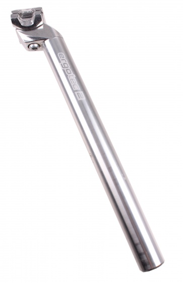 Ergotec Zadelpen vast Patent 28,2 x 350 mm aluminium zilver