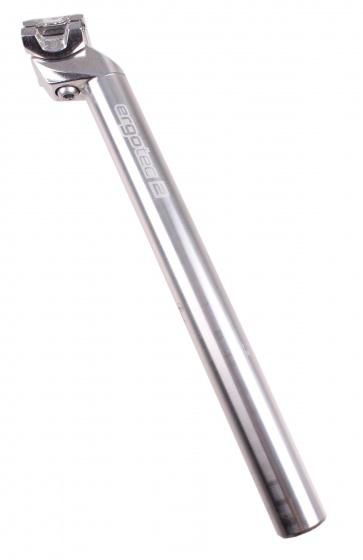 Ergotec Zadelpen vast Patent 28,8 x 350 mm aluminium zilver