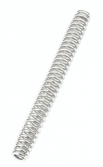 Ergotec zadelpenveer voor Cushy/Glide staal 120 kg zilver