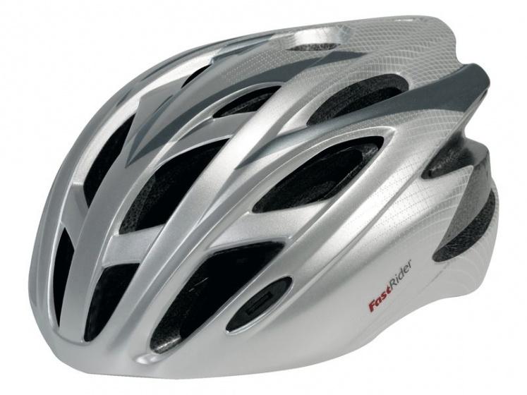 Fastrider Helm FRX 10 Zilver Maat S-M