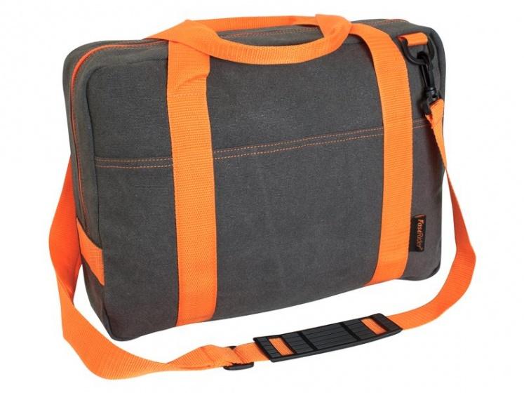 FastRider schoudertas Melange Fluo 12 liter oranje